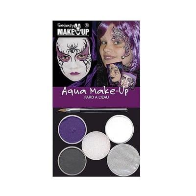 Комплект гримове в кутия Aqua Make Up, 5 цвята + 1 четка, магически