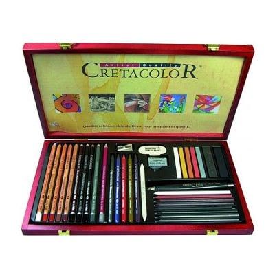 Комплект художествен CretaColor, ULTIMO, дървена кутия