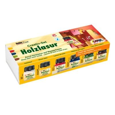 Комплект лазурни бои Hobby Line, Creativ-Set, 6 x 20 ml