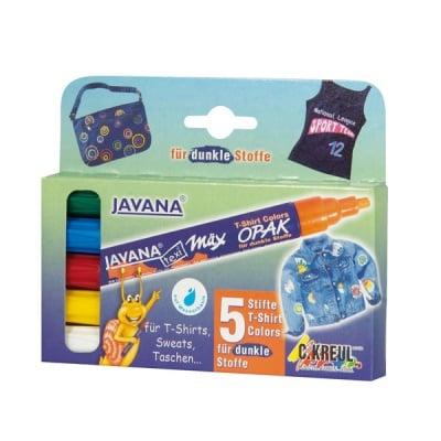 Комплект маркер текстилен texi max OPAK JAVANA, 5бр.