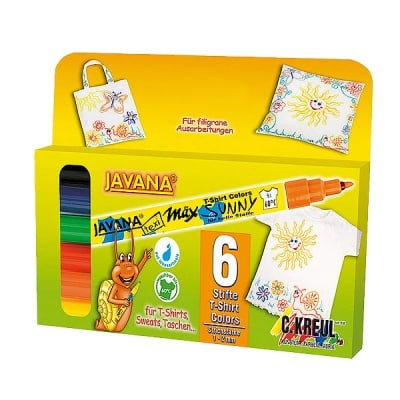 Комплект маркери текстилен SYNNY, JAVANA, medium, 5 бр.