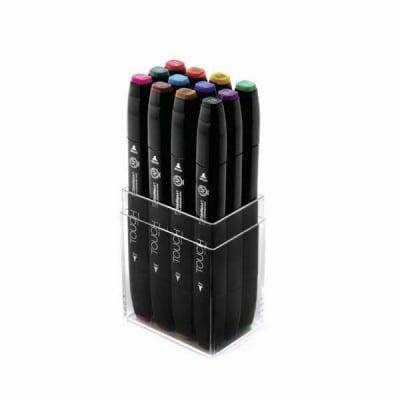 Комплект маркери TOUCH TWIN, 12 бр., основни цветове
