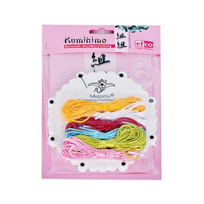 Комплект Mobidai Kumihimo диск за плетене, 163 mm х 10 mm, шнурове, 9 части