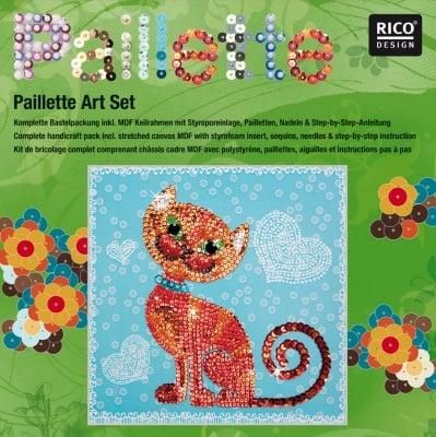 "Комплект мозайка с пайети RicoDesign, ""Коте"", 30.5 x 30.5 cm"