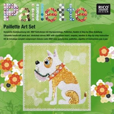 "Комплект мозайка с пайети RicoDesign, ""Куче"", 30.5 x 30.5 cm"