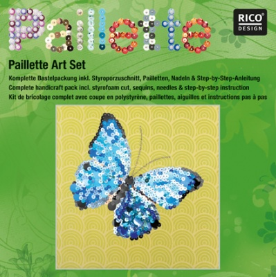 "Комплект мозайка с пайети RicoDesign, ""Пеперуда"", 30.5 x 30.5 cm"