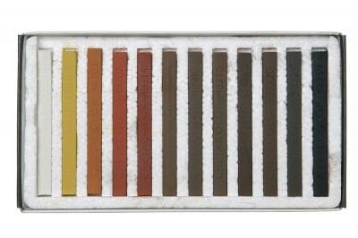 Комплект пастели CretaColor, BROWN CHALKS, 12 бр.