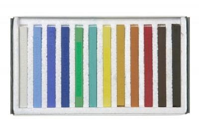 Комплект пастели NATURE, PASTEL CARRE, 12 цвята