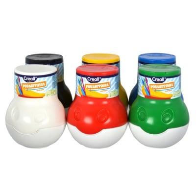 Комплект плакатни бои CREALL Mini, 6 х 500 ml