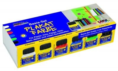 Комплект плакатни бои Plakatfarben Basis-Set, 6 x 20 ml