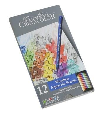 Комплект сърцевини CretaColor, AQUA MONOLITH, 12 цвята