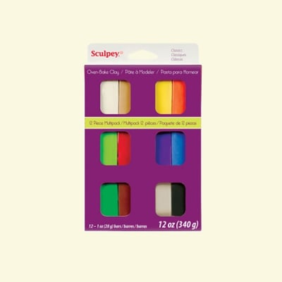 Комплект Sculpey III класчески, 12 цвята x 28 g