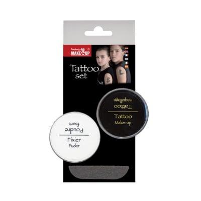 Комплект шаблон за татуировка + фиксираща пудра Tattoo Make Up