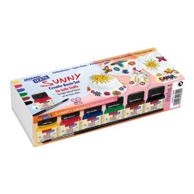 Комплект текстилни бои Sunny Creativ, 6 x 20 ml