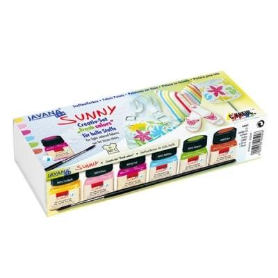 Комплект текстилни бои Sunny Creativ, 6 x 20 ml, fresh colors