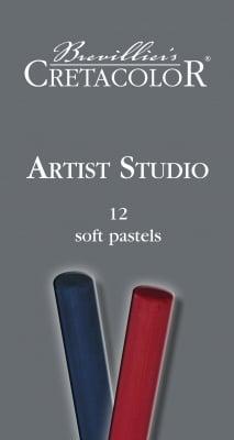 Комплект твърди пастели Artist Studio Line, 12 цвята