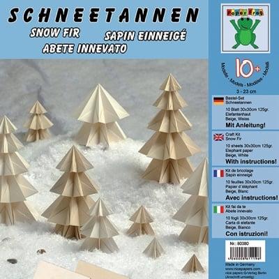 Комплект за оригами, Schneetannen, 30 x 30 cm, 10 л.,125 g