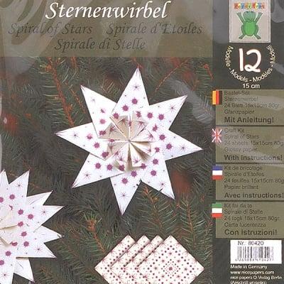 Комплект за оригами, Sternenwirbel, 15 x 15 cm, 24 л./ 80 g