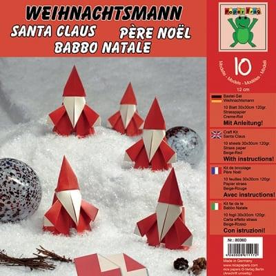 Комплект за оригами, Weihnachtsmann, 30 x 30 cm, 10 л.,120 g