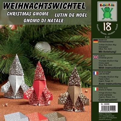 Комплект за оригами, Weihnachtswichtel, 20 x 20 cm, 18 л.