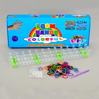Комплект за сплитане на гривни от ластички, 528 части