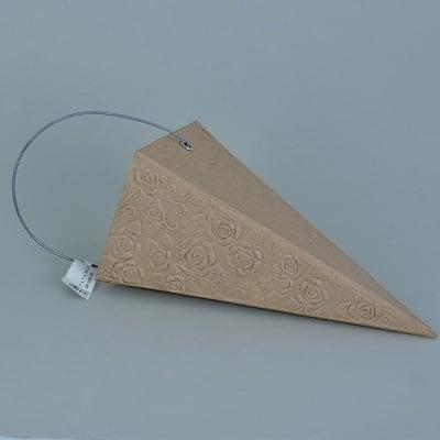 Конус от папие маше с орнаменти, 7 x 7 x 16 cm