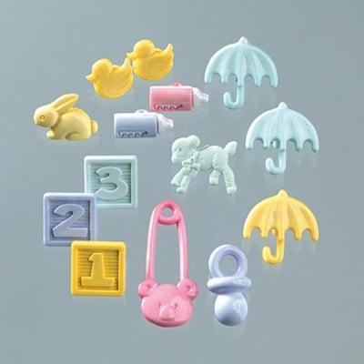 Копчета, Baby Shower, 14 бр., пастелни цветове