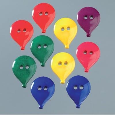 Копчета, балони, 25 x 20 mm, 10бр., разноцветни