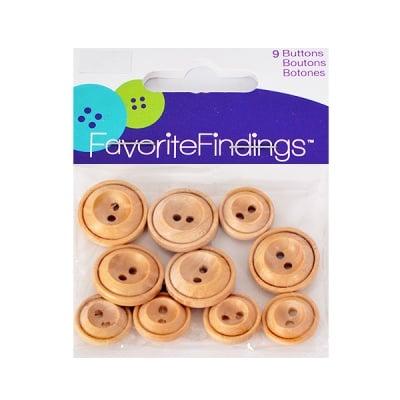 Копчета, дървени, 15 - 19 mm, 9 бр.