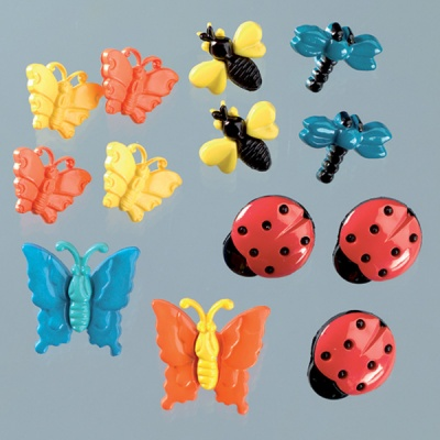 Копчета, градински насекоми, 12бр, разноцветни