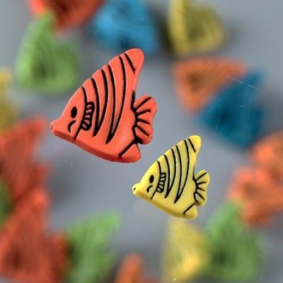 Копчета, рибки, 9бр. ,  разноцветни