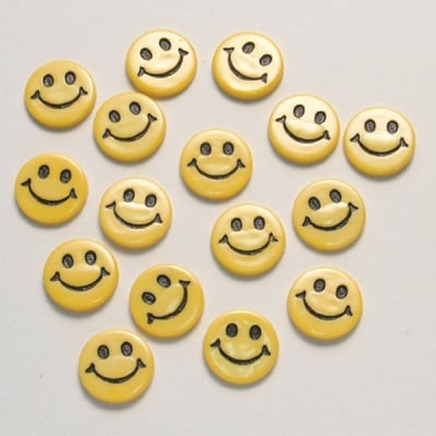 Копчета, усмивки, 16бр., жълт