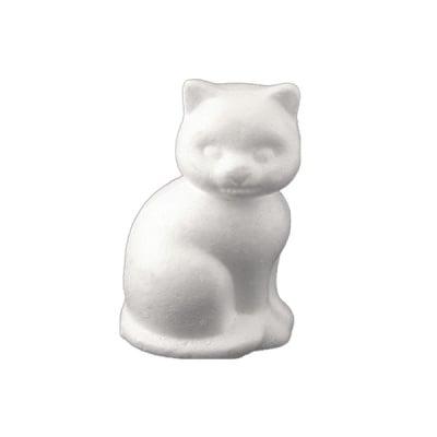 Коте от стиропор, бял, H 240 mm