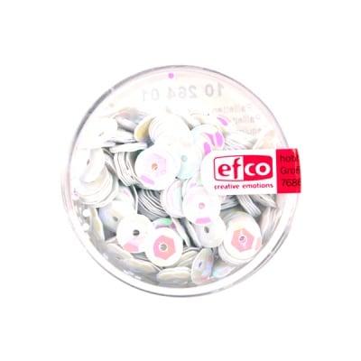 Кръгли пайети, релефни, ф 6 mm, ~ 500 бр., бели