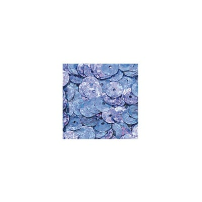 Кръгли пайети, релефни, ф 6 mm, ~ 500 бр., холограмно синьо