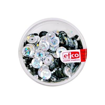 Кръгли пайети, релефни, ф 6 mm, ~ 500 бр., холограмно сребристи