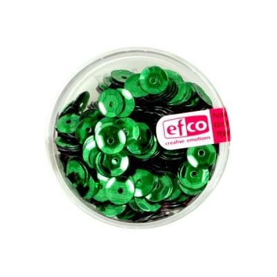 Кръгли пайети, релефни, ф 6 mm, ~ 500 бр., холограмно зелено