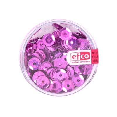 Кръгли пайети, релефни, ф 6 mm, ~ 500 бр., розови