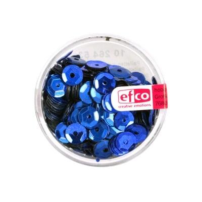 Кръгли пайети, релефни, ф 6 mm, ~ 500 бр., сини