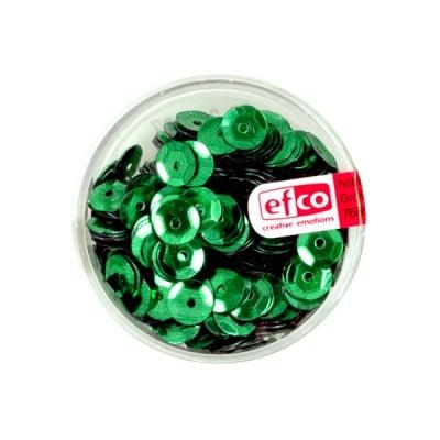 Кръгли пайети, релефни, ф 6 mm, ~ 500 бр., зелени