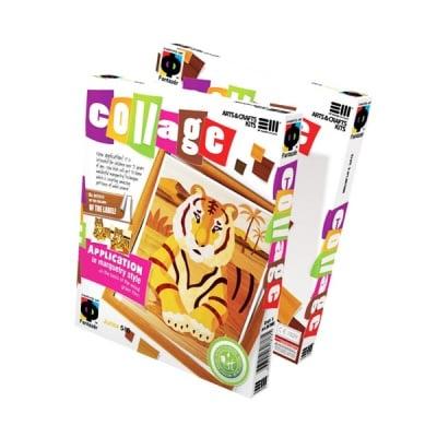 Креативен комплект за колаж по техниката маркетри Collage «The Tiger»