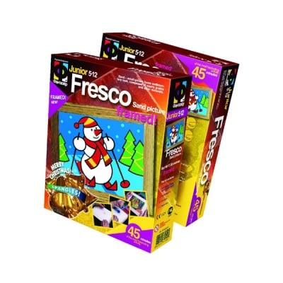 """Креативен комплект за пясъчни картини Fresco """"Snowman"""""""