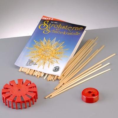 Креативен комплект за изработка на сламени звезди, 4 части