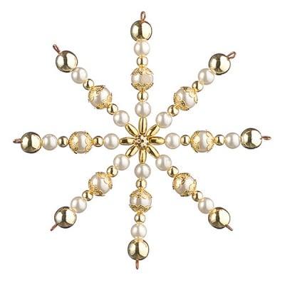Креативен комплект Pearl Star Craft Kit, Ø 10 cm, 1 брой, златни / бели