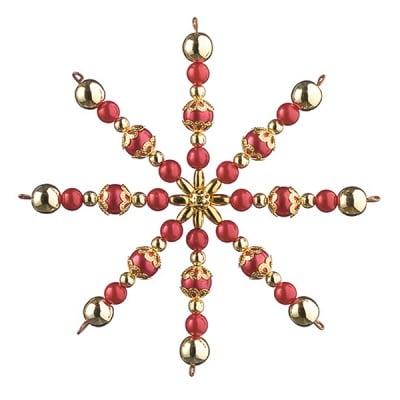 Креативен комплект Pearl Star Craft Kit, Ø 10 cm, 1 брой, златни  /червени