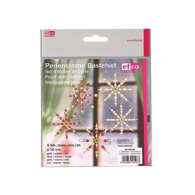 Креативен комплект Pearl Star Craft Kit, Ø 10 cm, 5 бр, златни/ кремави/ червени