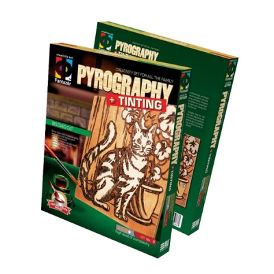 Креативен комплект Pyrography «Beloved cat»
