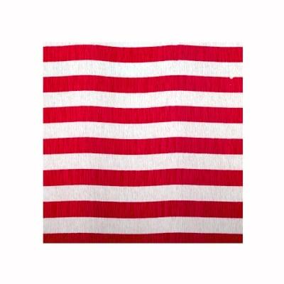 Креп-хартия, 35 g/m2, 50 x 250 cm, 1 ролка, рае бяло/ червено