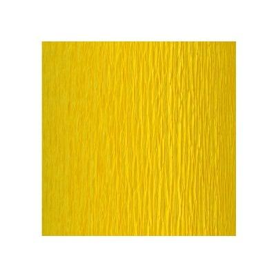 Креп-хартия усилена, 130 g/m2, 50 x 250 cm, 1 ролка, лимонено жълта