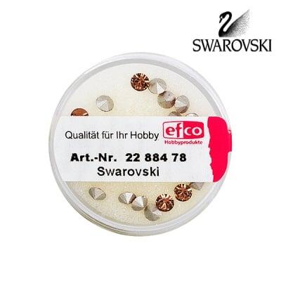 Кристали Swarovski Chatons, ф 4 mm, 20 бр., светъл опушен топаз